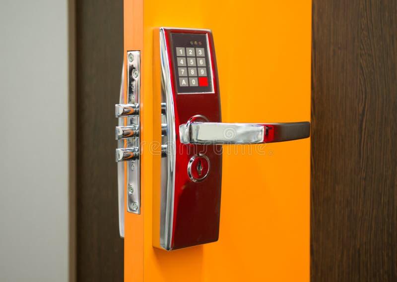 电子安全门锁 库存图片