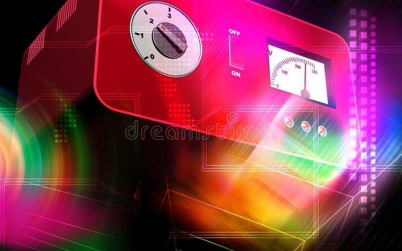 电子安定器 向量例证
