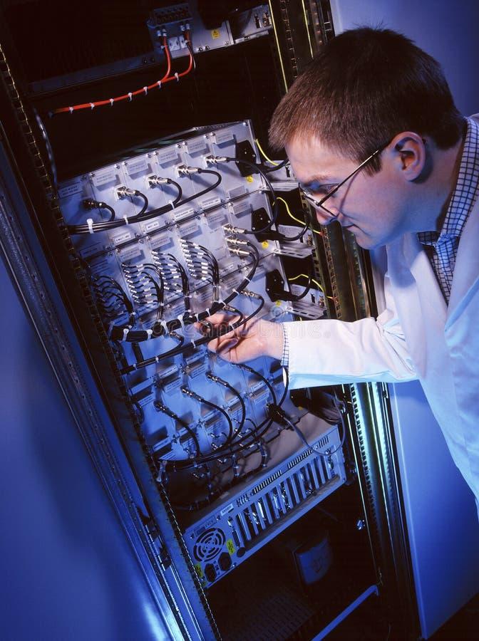 电子工程师-它技术人员 图库摄影