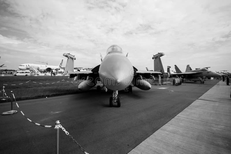 电子战争航空器波音EA-18G短路线圈测试仪 免版税库存照片
