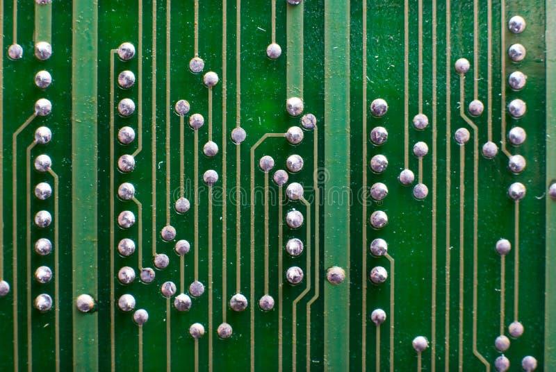 电子技术背景以绿色 图库摄影