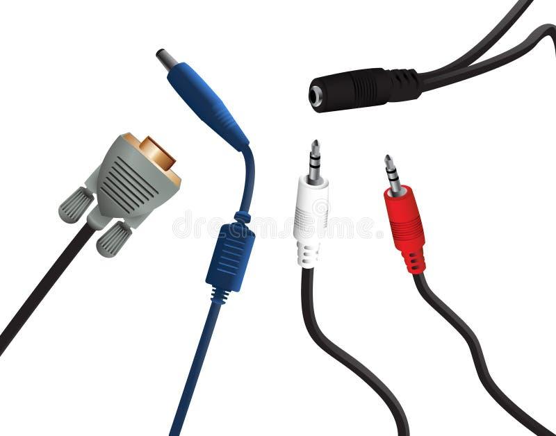 电子插件 向量例证