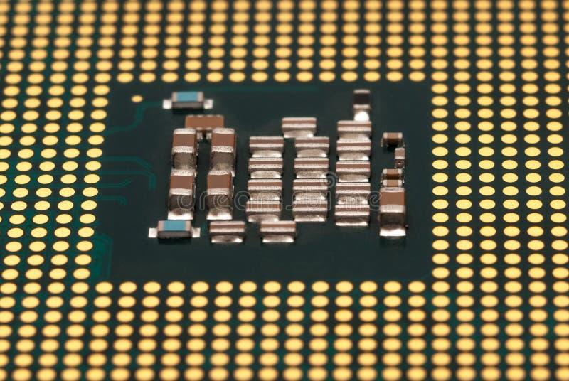 电子收藏-在白色背景隔绝的CPU 库存照片