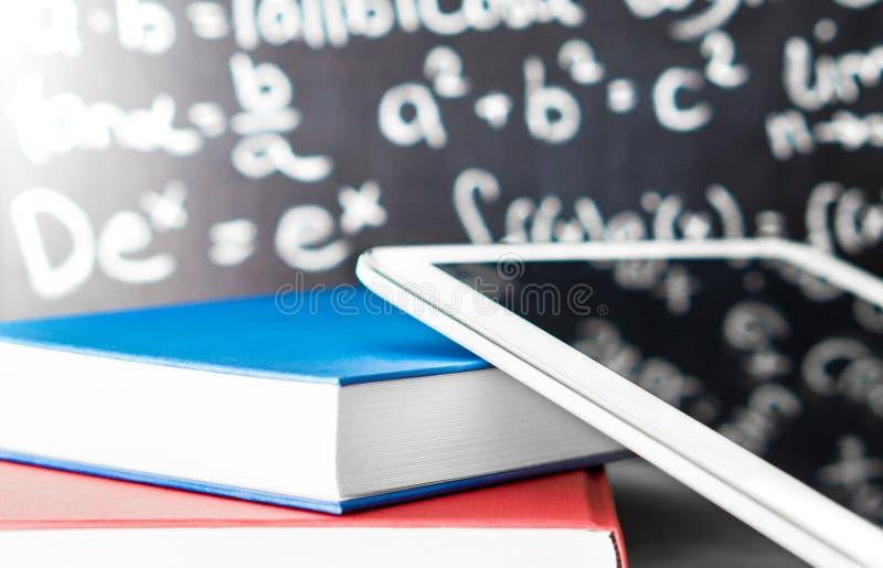电子教学和现代教育概念 免版税库存照片