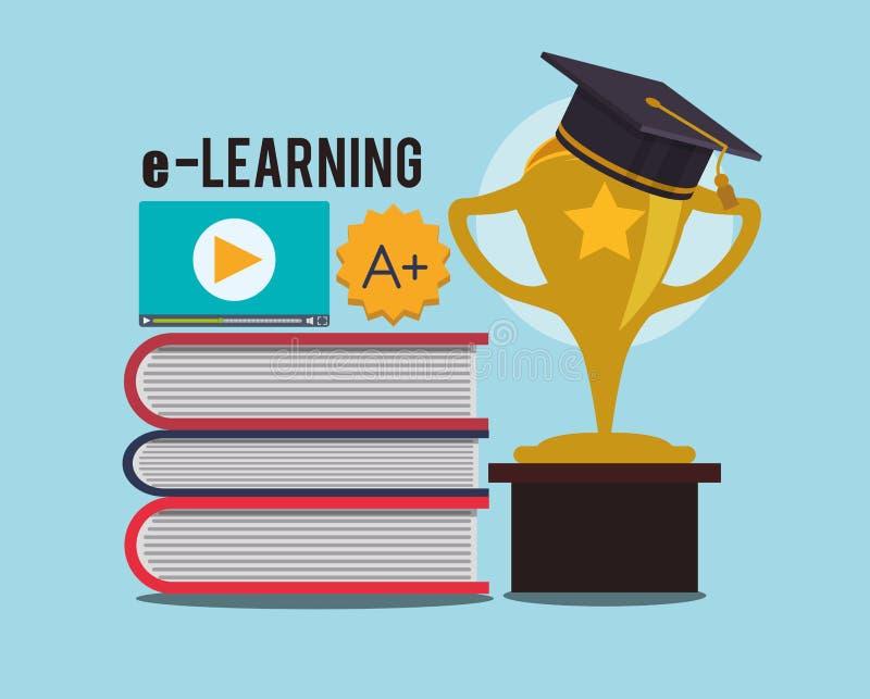 电子教学和ebook设计 向量例证