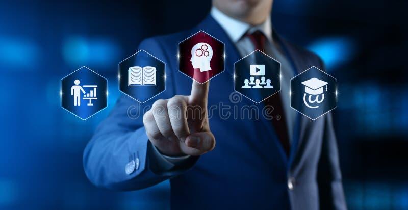 电子教学教育互联网技术Webinar网上课程概念 免版税库存照片