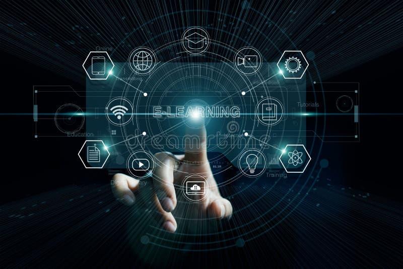 电子教学教育 训练事务 互联网当知识库 免版税图库摄影