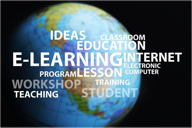 电子教学概念和其他相关词 向量例证