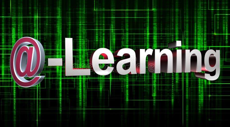 电子教学 向量例证