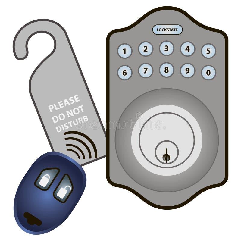 电子数字式锁 皇族释放例证