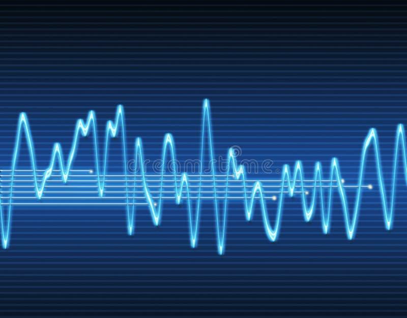 电子正弦声波 库存例证