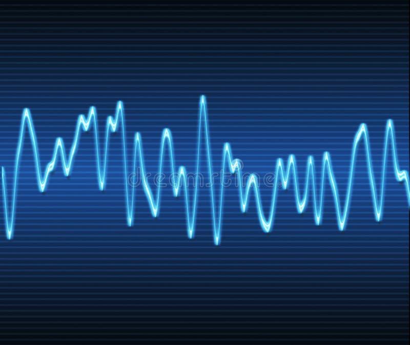 电子正弦声波 皇族释放例证