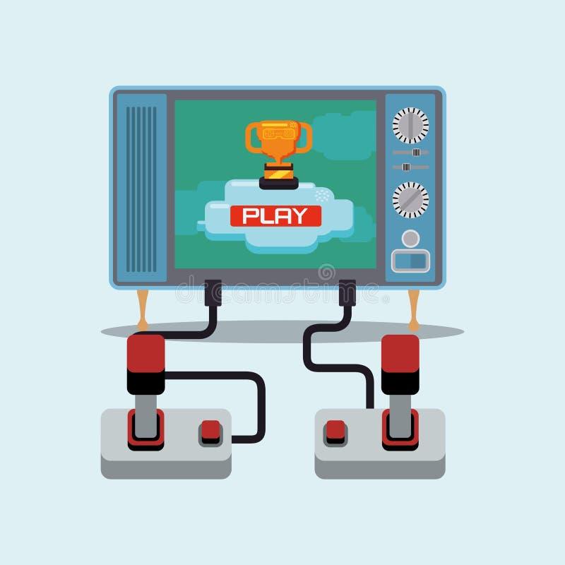 电子游戏设计 向量例证
