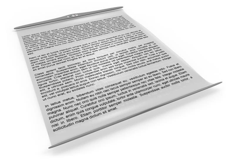 电子灵活的阅读程序屏幕 库存例证