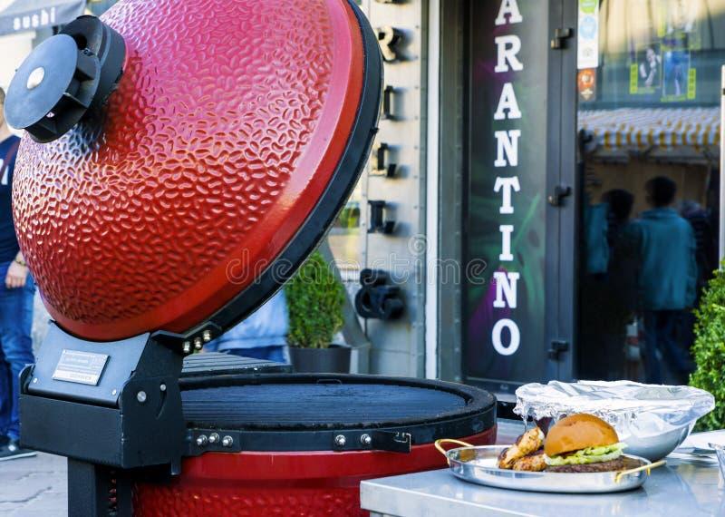 电子烤肉 库存图片