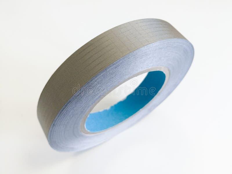 电子的电磁兼容性的导电性纺织品磁带 库存照片