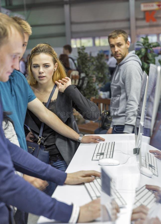 电子的CEE 2016年陈列在基辅,乌克兰 免版税图库摄影