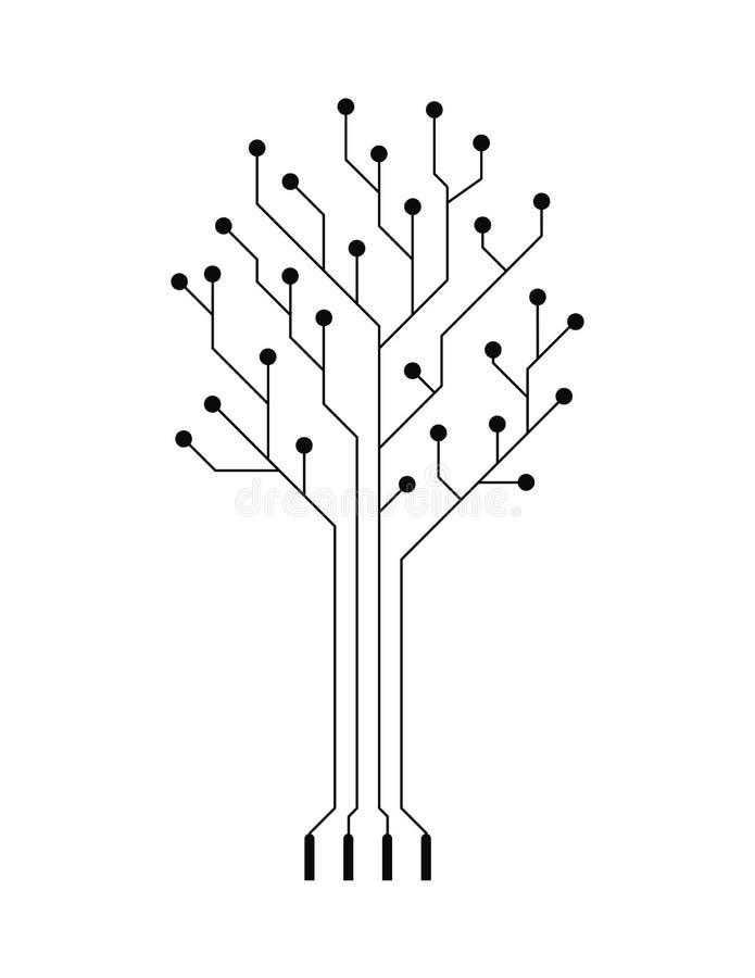 电子简单的结构树向量 库存例证