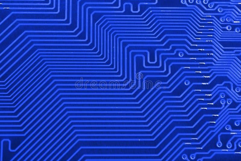 电子线路板作为一个抽象背景样式 被定调子的宏观特写镜头 库存照片