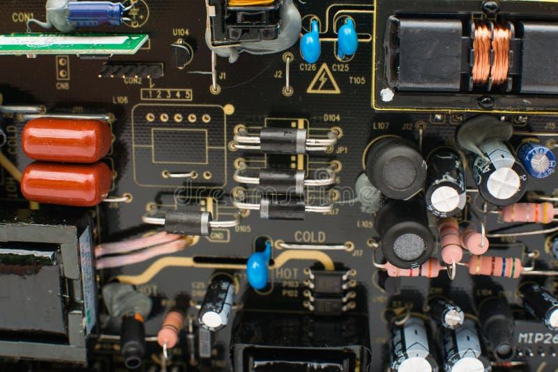 电子线路板特写镜头 库存照片