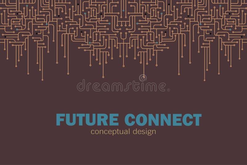 电子背景的电路 Spu 电路线设计 未来概念 库存例证