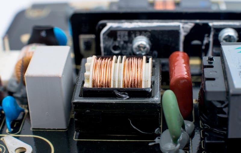 电子董事会的电路 免版税库存图片
