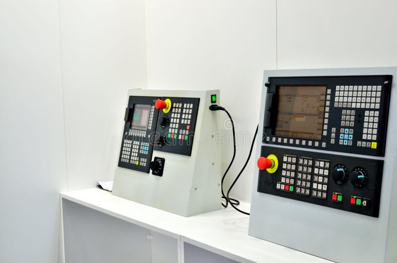 电子计算机工业计算机数控机床的控制板金属工艺的 免版税库存照片