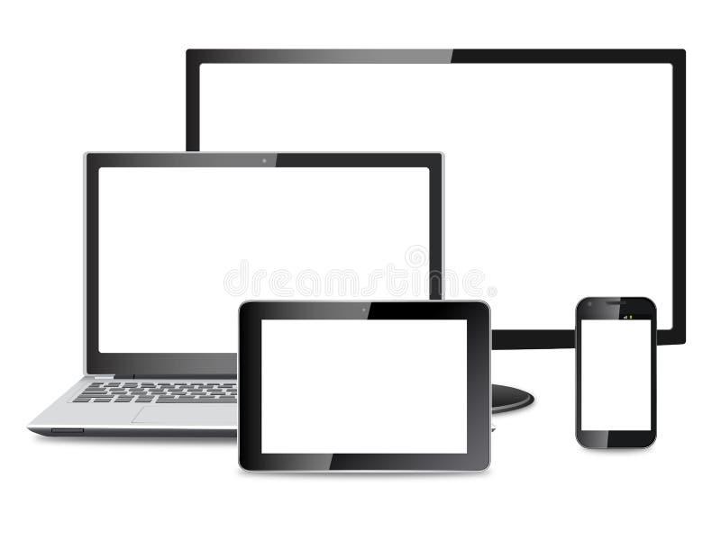 电子设备传染媒介eps 库存例证