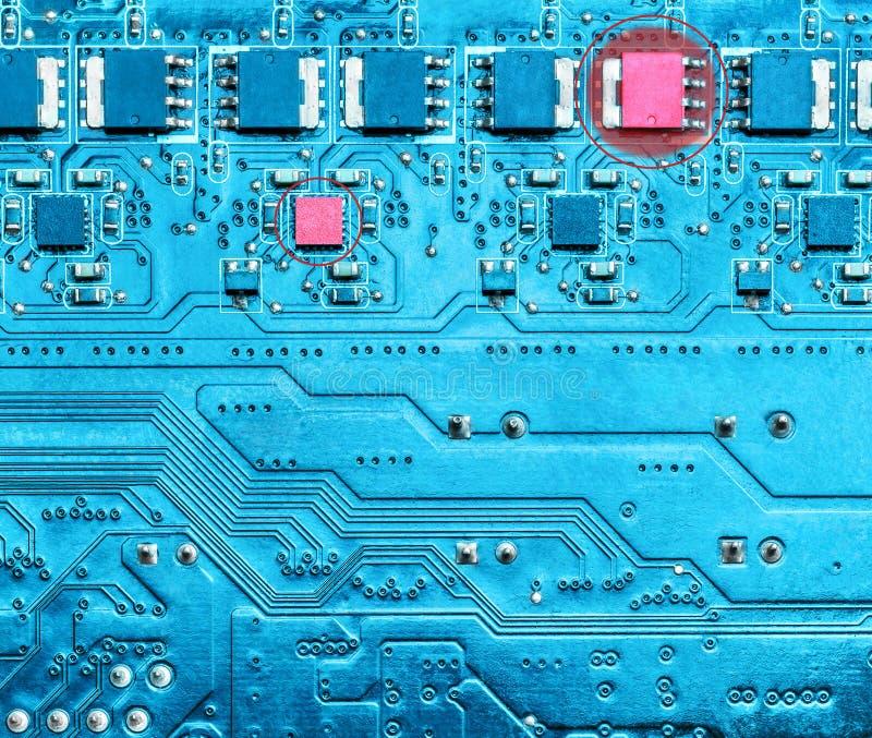电子设备电路的故障 免版税库存图片
