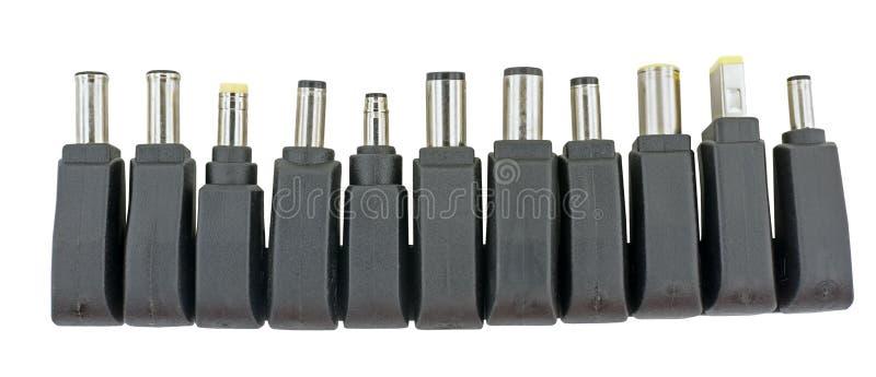 电子设备的普遍适配器充电器例如膝上型计算机 库存照片