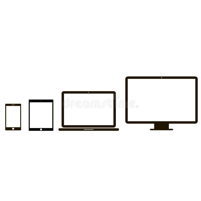 电子设备象 向量例证