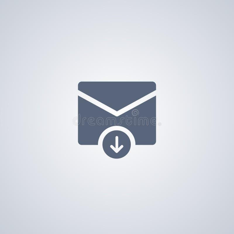 电子邮件下载,导航最佳的平的象 皇族释放例证
