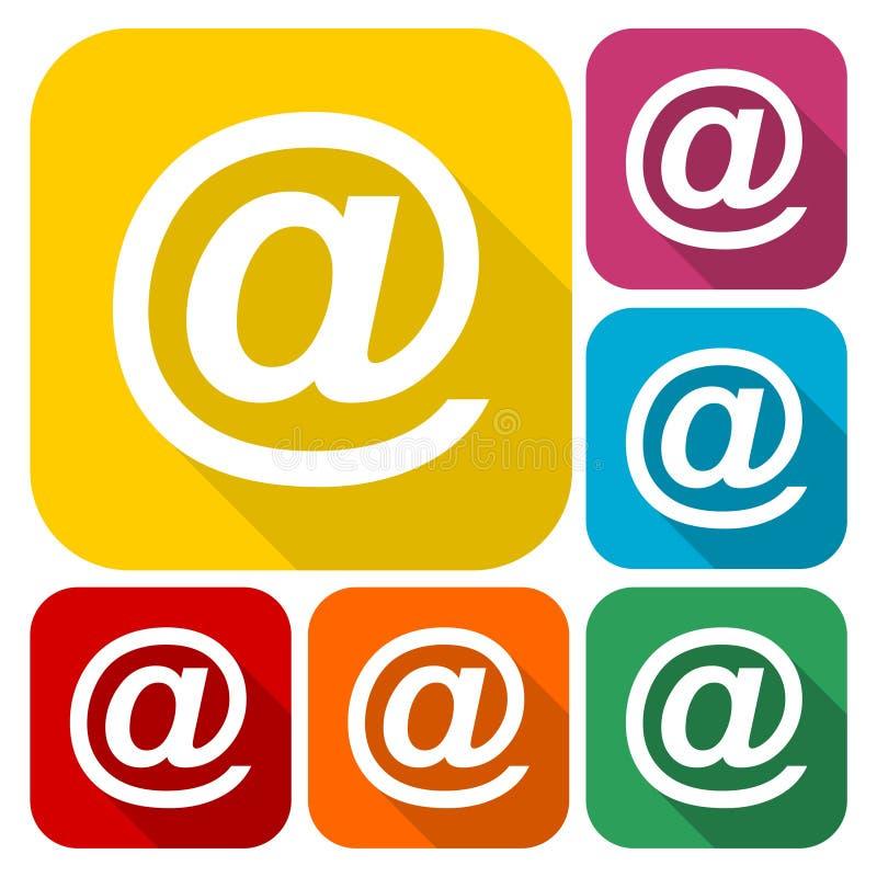 电子邮件互联网象设置与长的阴影 皇族释放例证