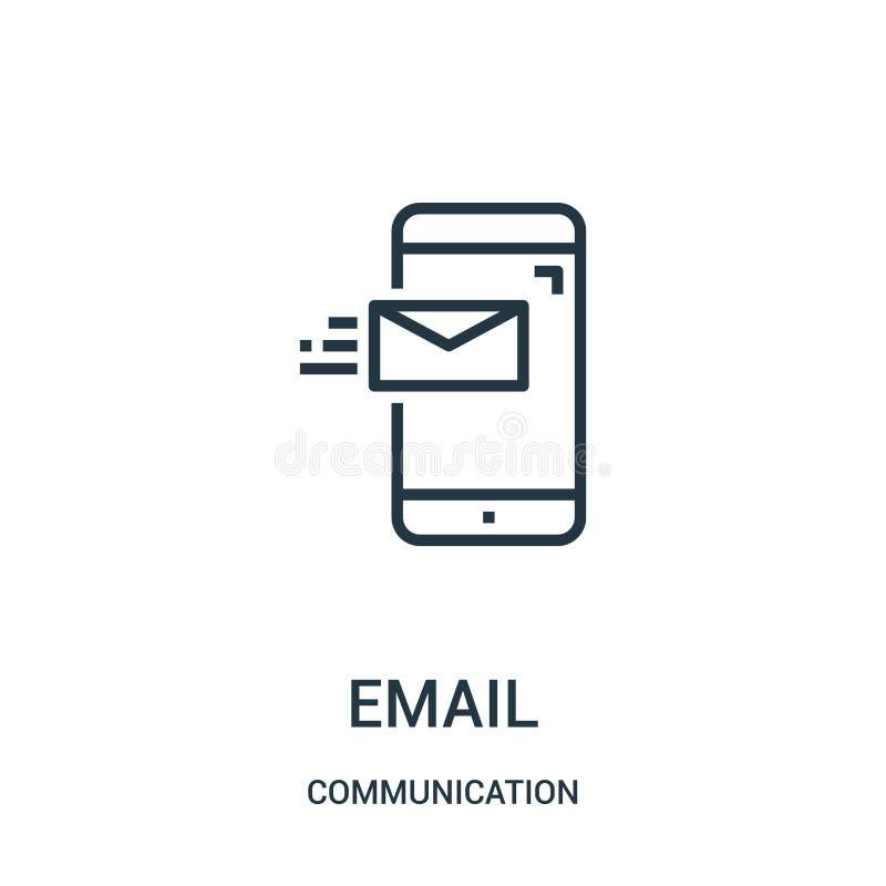 电子邮件从通信汇集的象传染媒介 稀薄的线电子邮件概述象传染媒介例证 r 皇族释放例证
