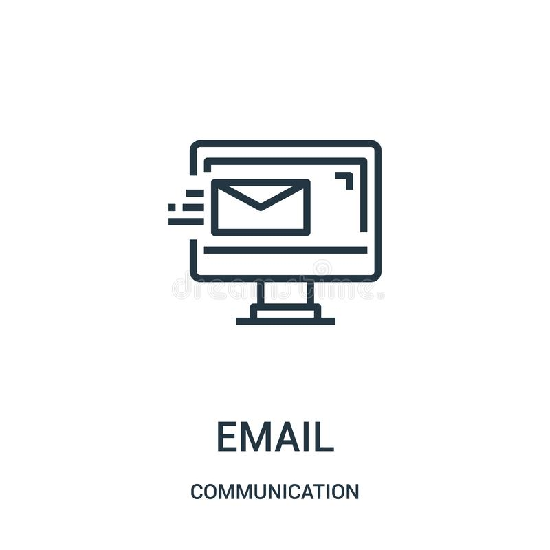 电子邮件从通信汇集的象传染媒介 稀薄的线电子邮件概述象传染媒介例证 r 向量例证