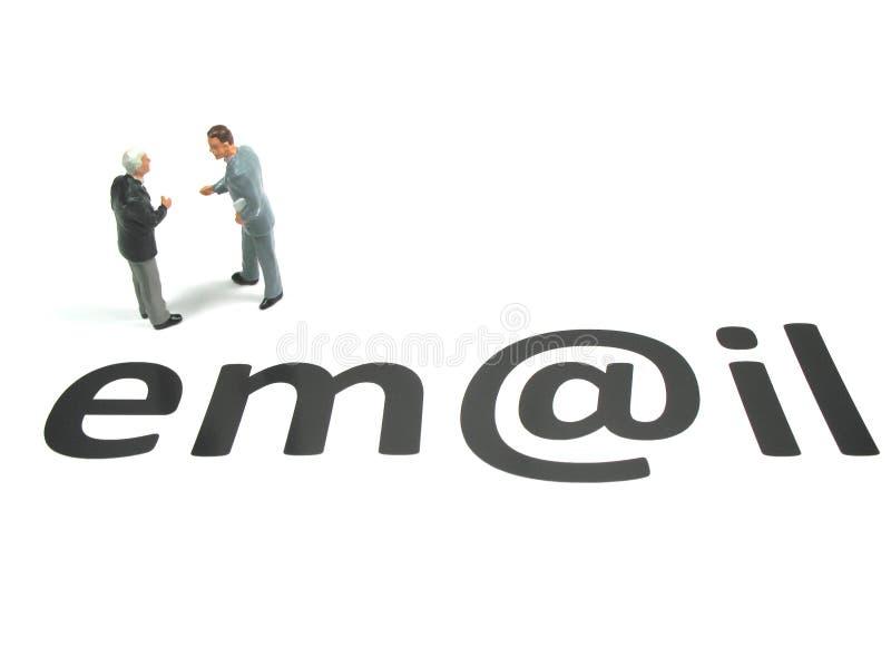 电子邮件保留接触 免版税图库摄影