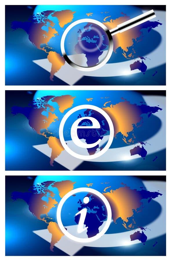 电子邮件信息世界 皇族释放例证