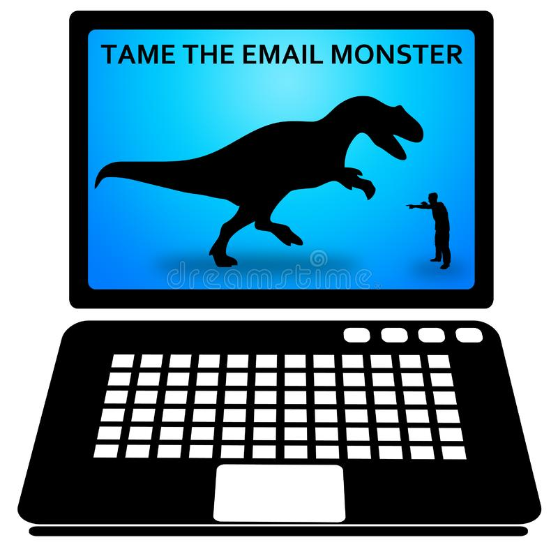 电子邮件信息超载 皇族释放例证