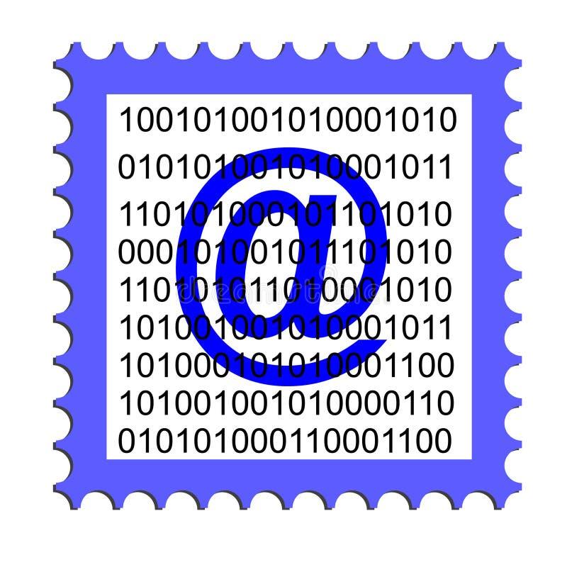 电子邮件印花税的例证 皇族释放例证