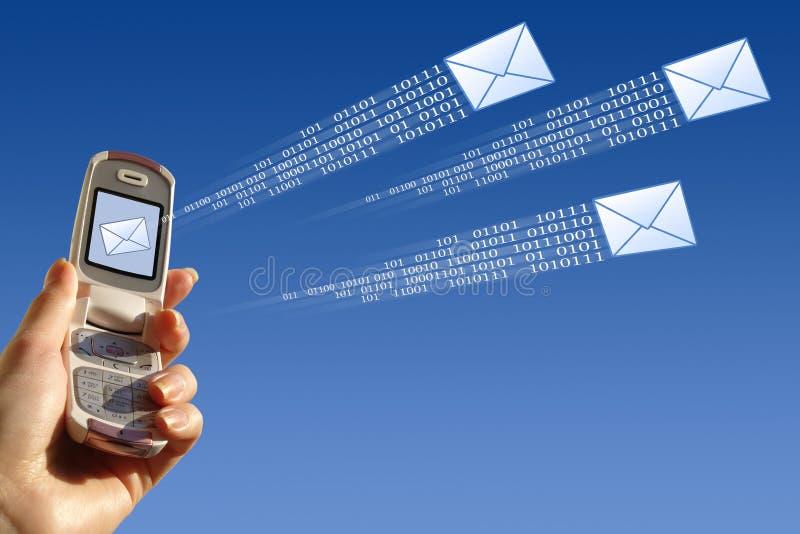 电子邮件发送 库存例证