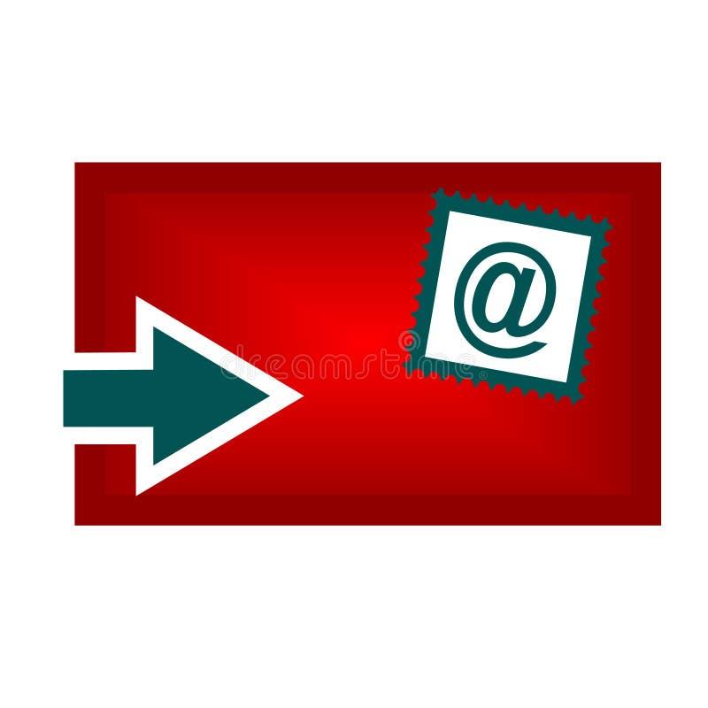 电子邮件图标(向量) 库存例证