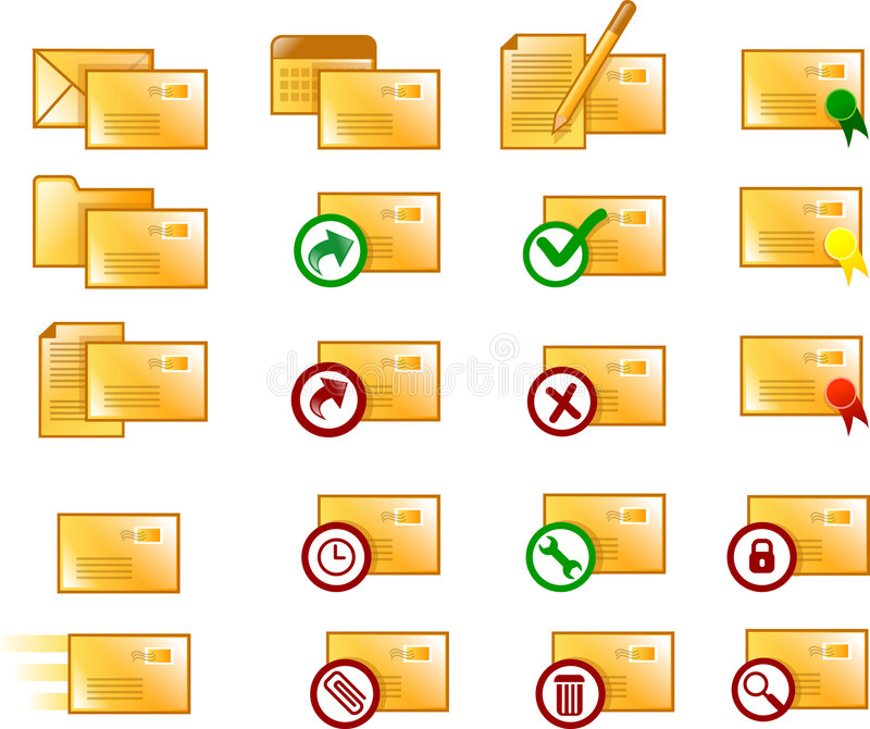 电子邮件图标 库存照片