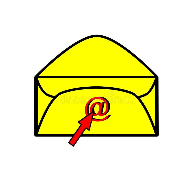 电子邮件图标 向量例证