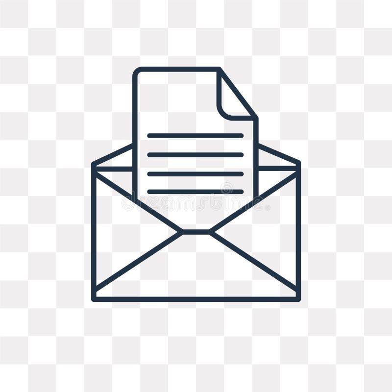 电子邮件在透明背景隔绝的传染媒介象,线性Ema 皇族释放例证