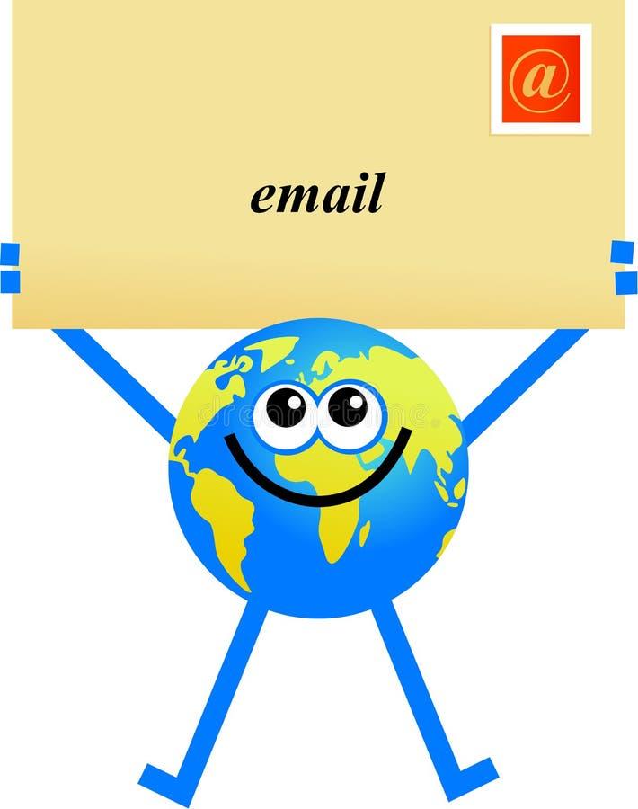 电子邮件地球 皇族释放例证