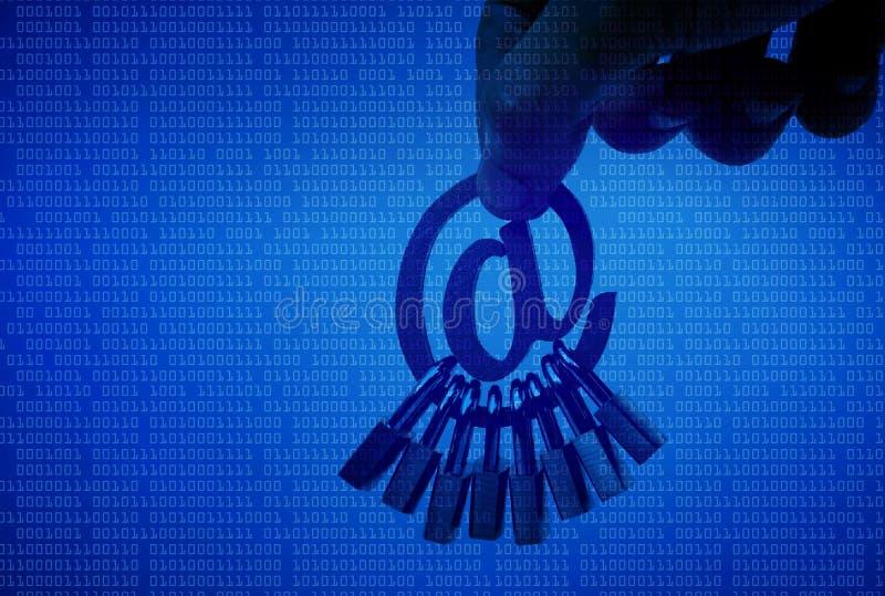 电子邮件安全 免版税库存照片