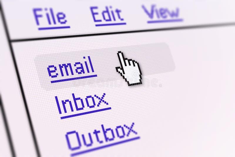 电子邮件屏幕 免版税图库摄影