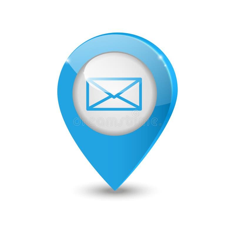 电子邮件指针 向量例证