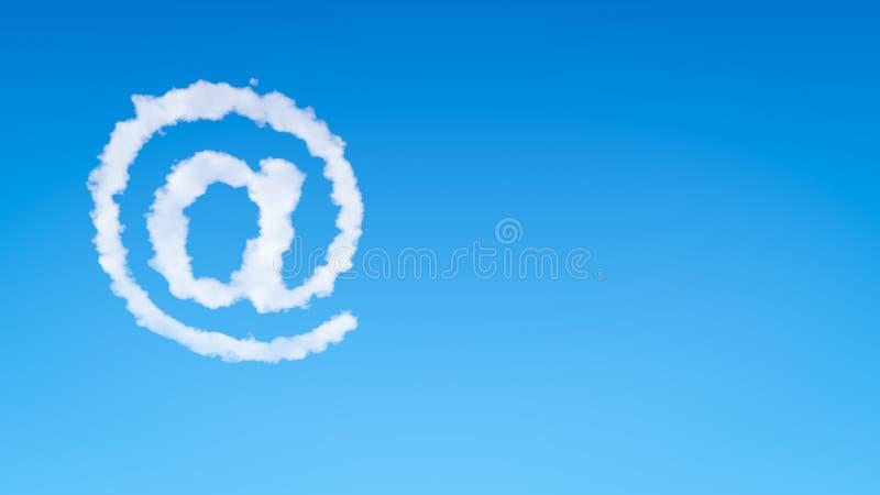 电子邮件标志形状云彩 向量例证