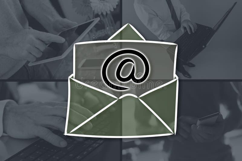 电子邮件的概念 库存照片